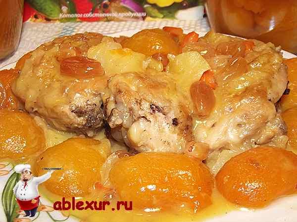 куриное соте с абрикосами