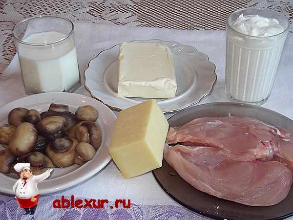 продукты для жульена с курицей