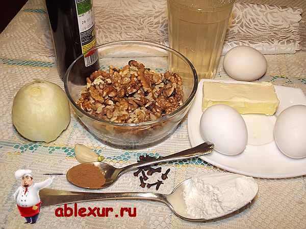 продукты для орехового соуса