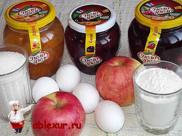 продукты для запеканки с яблоками