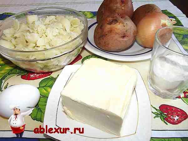 картофель, яйцо, масло, мука для котлет