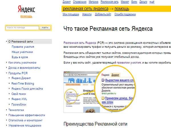 рекламная сеть Яндекс