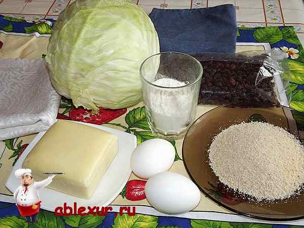 продукты для капустного шницеля