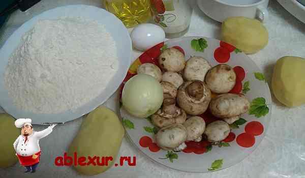 грибы с картошкой для вареников