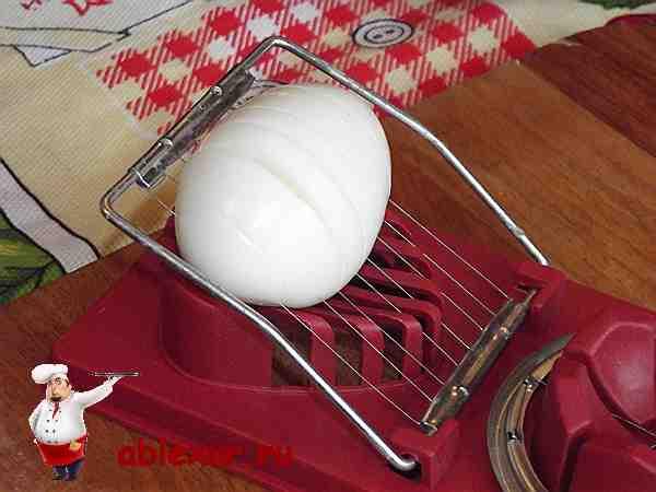 яйцо в яйцерезке