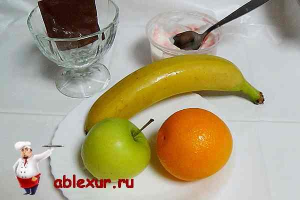 у фруктовый салат с йогуртом рецепт