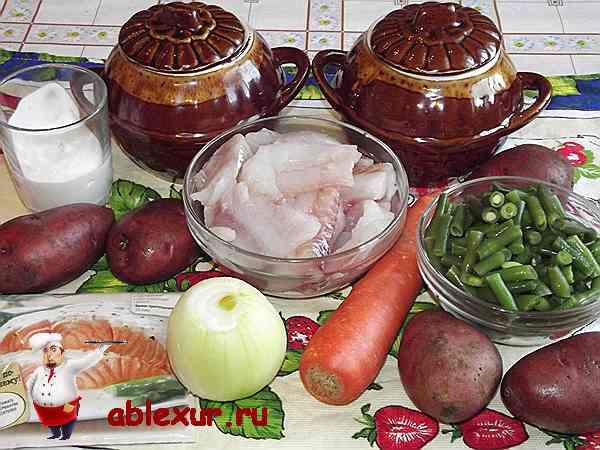 продукты для тушения минтая в духовке