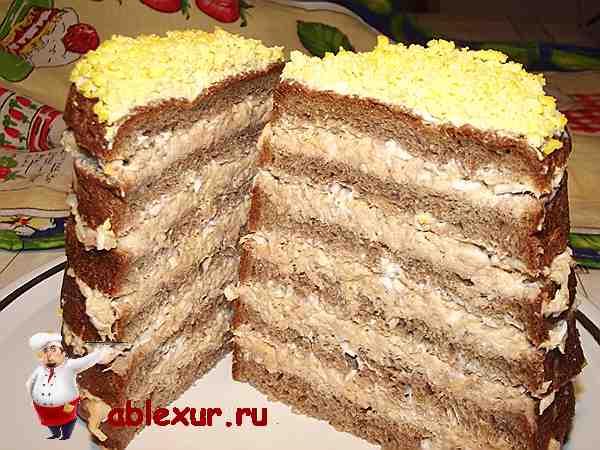 рыбный закусочный торт из горбуши