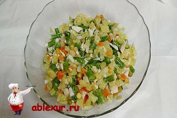 Рецепт салата из зеленой фасоли 108