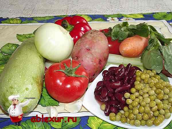 овощи для итальянского овощного супа