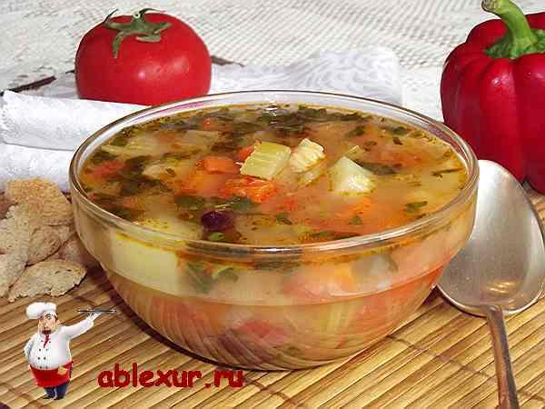 итальянсикй овощной суп минестроне