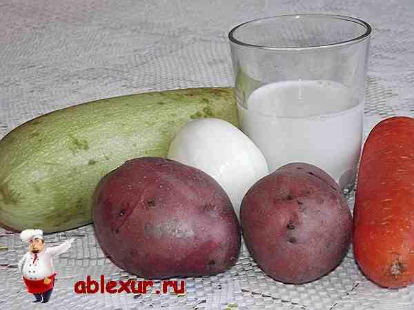 продукты для супа из кабачков