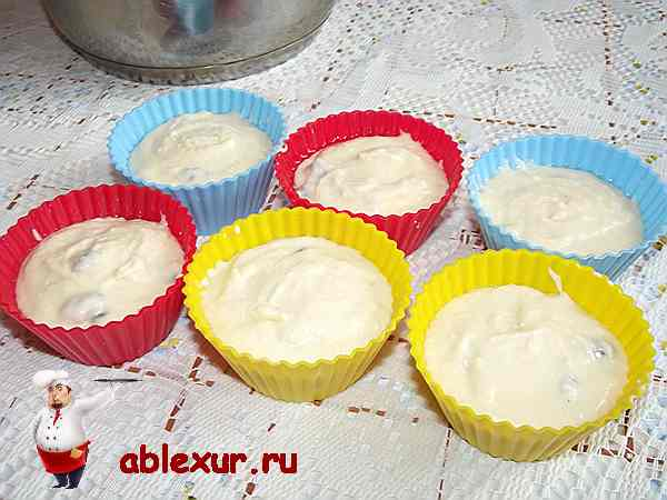 творожное тесто для кексов в силиконовых формах