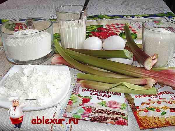 продукты для пирога из ревеня