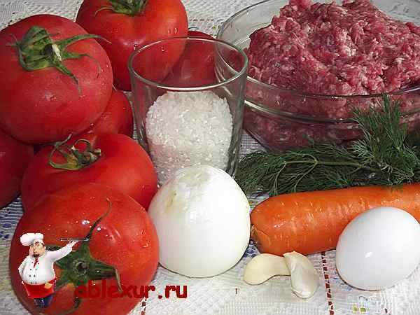 продукты для приготовления фаршированных помидоров