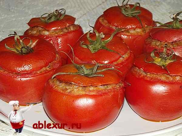 помидоры с мясным фаршем