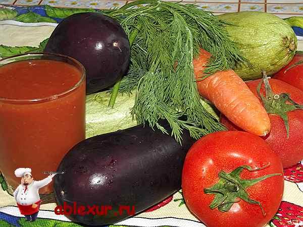 овощи для запеканки