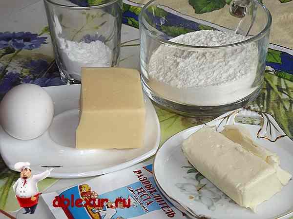 продукты для приготовления сырного пирога