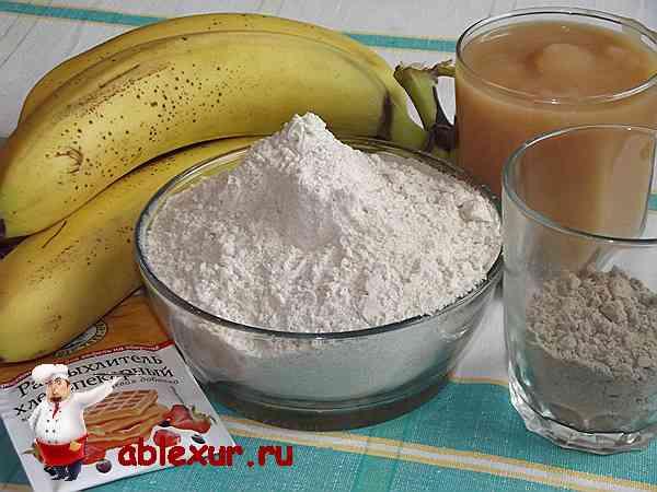 продукты для бананового хлеба