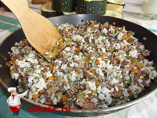 кабачки колечками с фаршем в духовке рецепт с фото