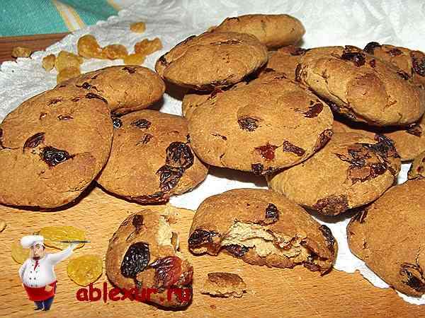 Рецепт песочного печенья с изюмом в домашних условиях