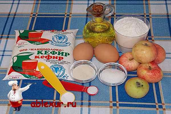 продукты для яблочных оладий