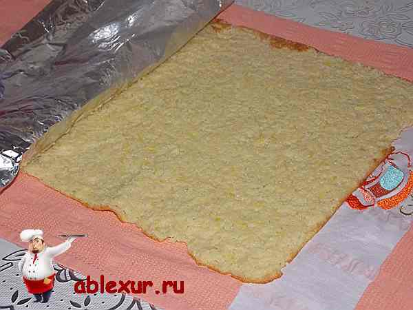 испеченный корж из кабачков