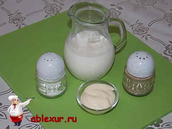 майонез с молоком и специями