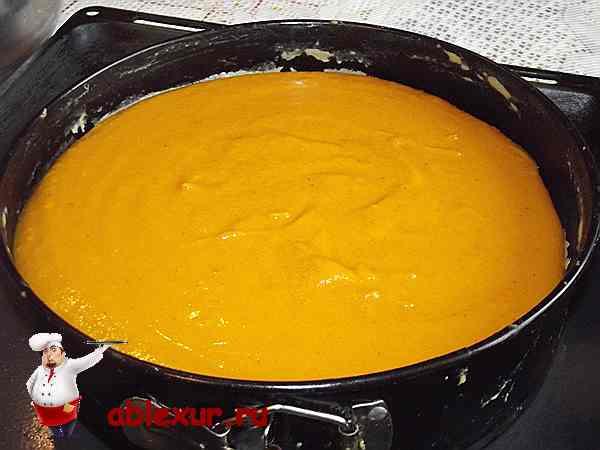 тыквенная начинка на выпеченной основе пирога