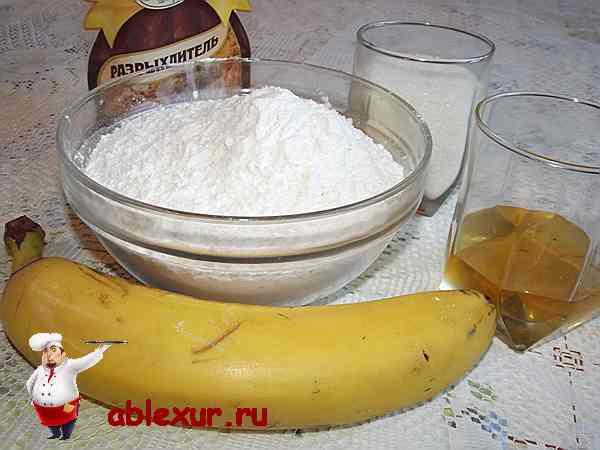 продукты для бананового печенья