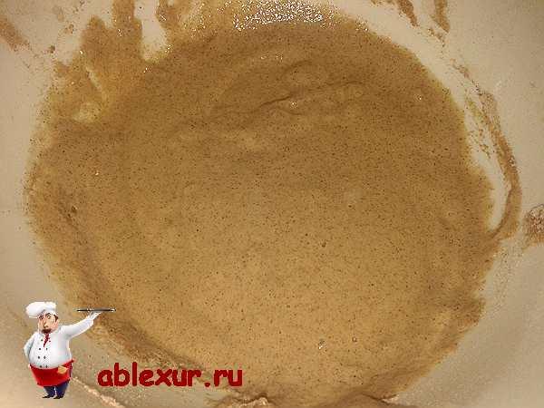 перемешанный ингредиенты для диетического кекса