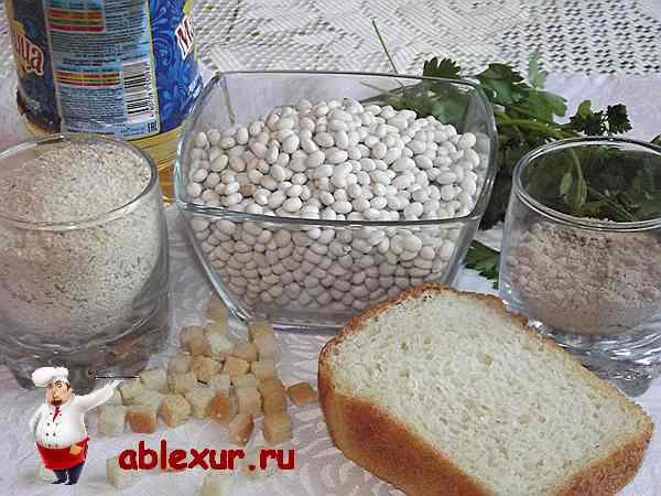 продукты для котлет из фасоли