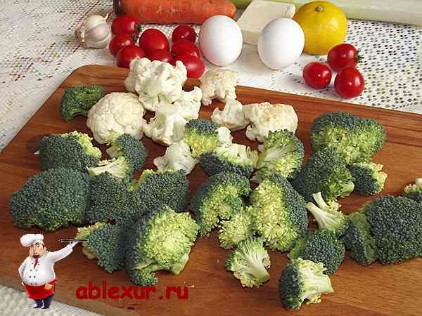 разделяю цветную капусту и брокколи