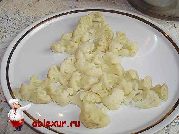 слой салата из цветной капусты