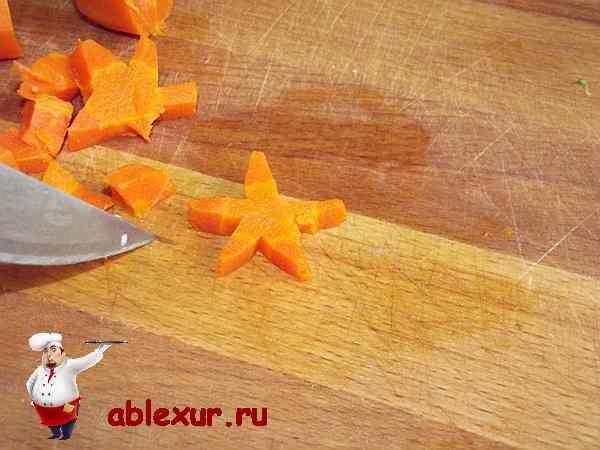 звездочка для украшения салата