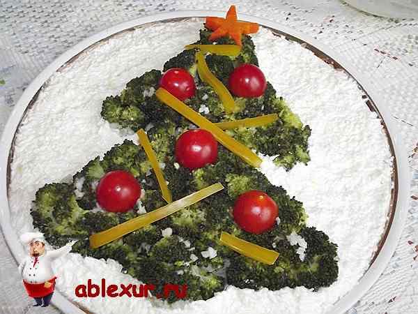 рецепт салата из брокколи - фото