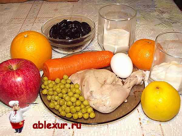 продукты для новогоднего салата