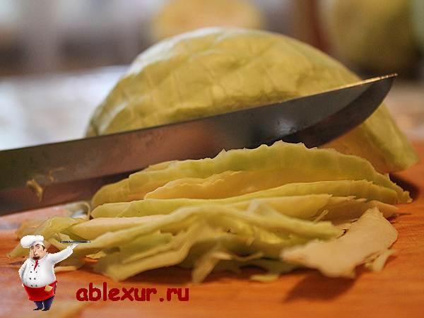 нарезка капусты для соления