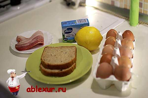 продукты для рецепта яиц бенедикт