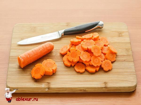 морковь нарезанная звездочками