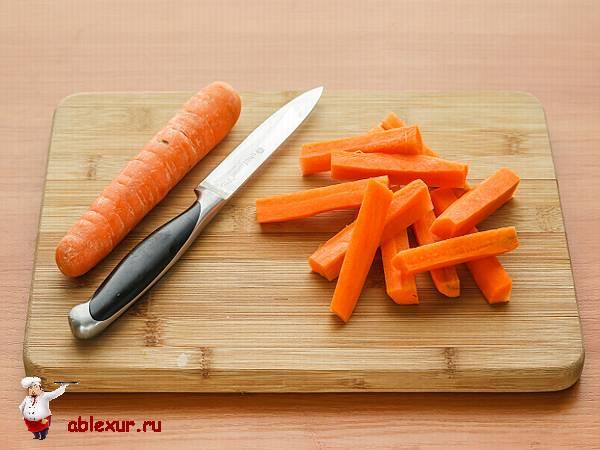 морковь нарезанная брусочками