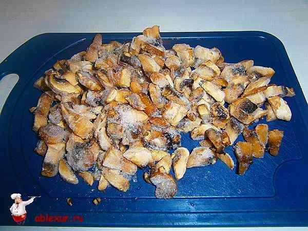 замороженные грибы для пиццы нарезанные ломтиками