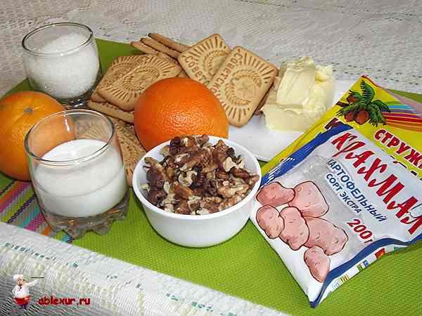 набор продуктов печенья апельсин
