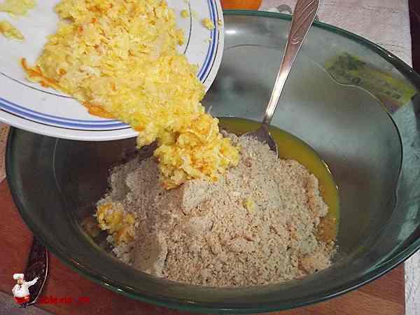 натертый апельсин добавляю в печенье