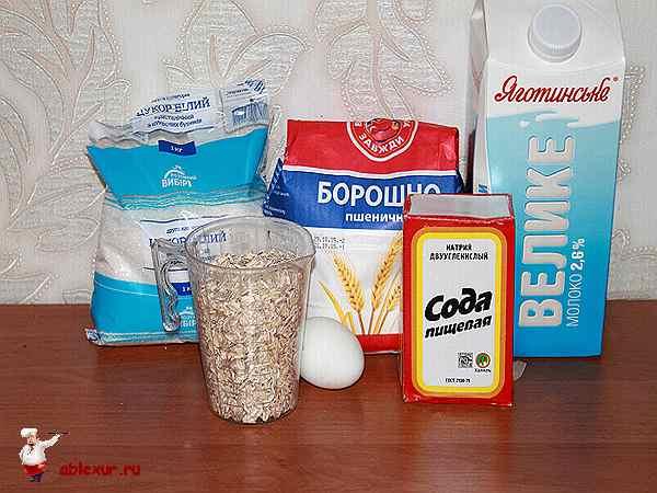 продукты для приготовления овсяных блинчиков