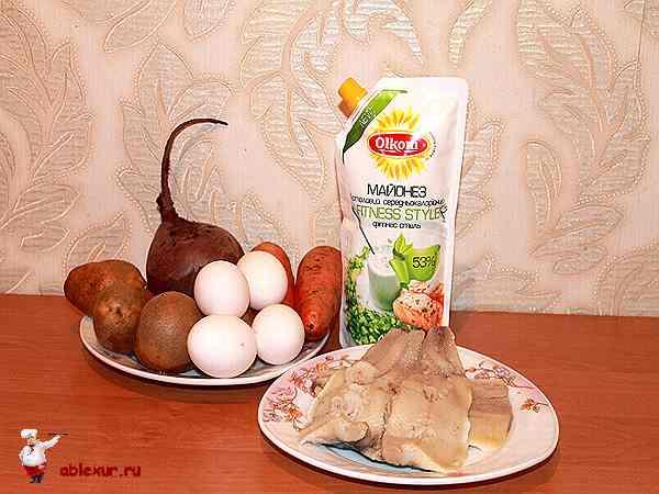 продукты для салата с селедкой