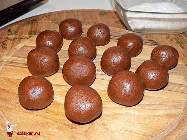 шарики из шоколадного теста