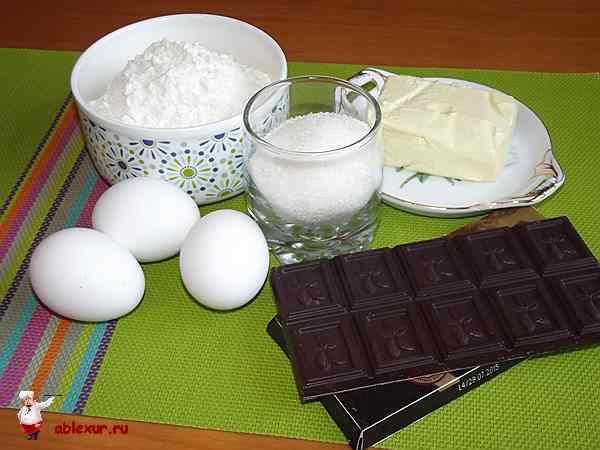 продукты для шоколадных маффинов
