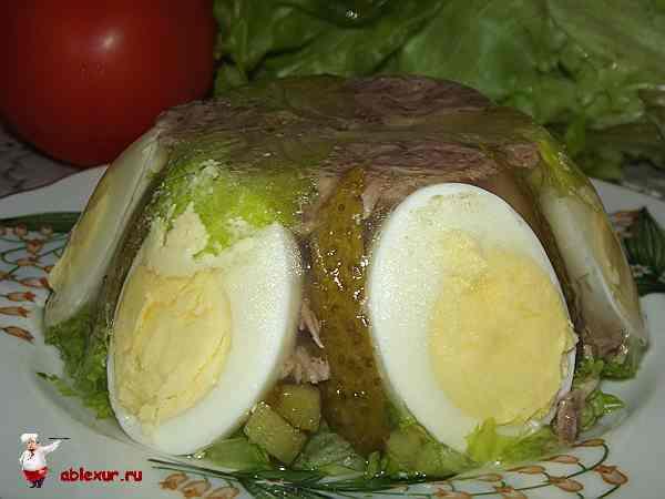 заливные яйца рецепт с фото