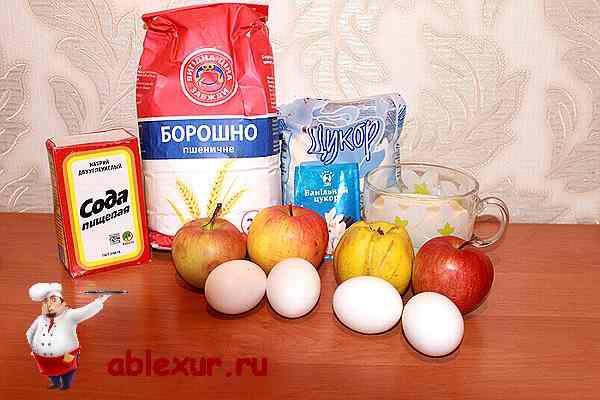 продукты для бисквитного пирога